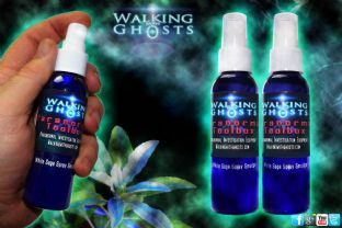2x Smoke Free Sage Smudge Spray Ritual Cleanse Arua Protect Spirit Ghost UK